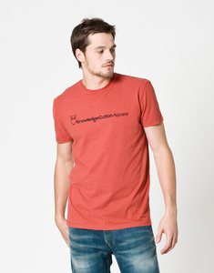 T-Shirt, red - KnowledgeCotton Apparel