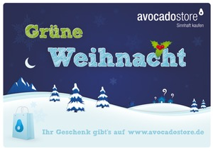 Grne Weihnacht - Wert frei whlbar - Avocado Store