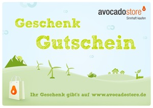 Geschenkgutschein - Wert frei whlbar - Avocado Store