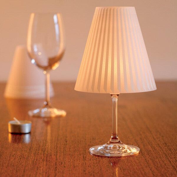 lampenschirm sch ne helene schirme f r teelichthalter weinglas von dekoop bei avocado store. Black Bedroom Furniture Sets. Home Design Ideas