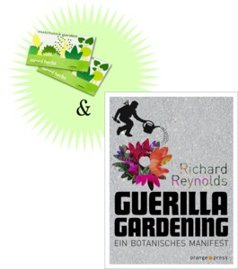 Guerilla Gardening + 2x Streichholzgarten - orange press + matchstickgarden