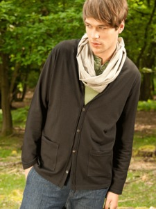 OUTSET Strickjacke - schwarz - woodlike