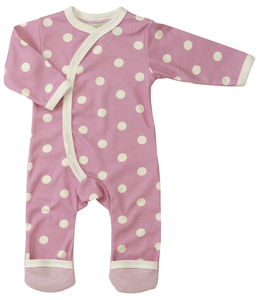 Babystrampler Spotty rosa - Organics for Kids