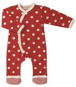 Babystrampler Spotty rot - Organics for Kids