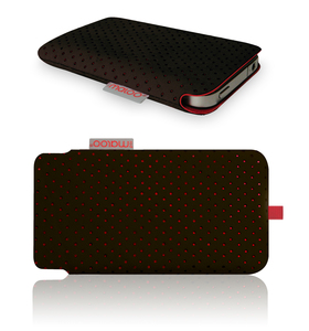 iPhone 4 Tasche Nappa Leder  - redmaloo