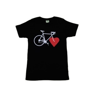 BIKE LOVE (girls eco-shirt black) - nicegreenstuff
