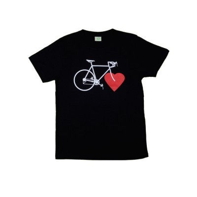 BIKE LOVE (boys eco shirt black) - nicegreenstuff