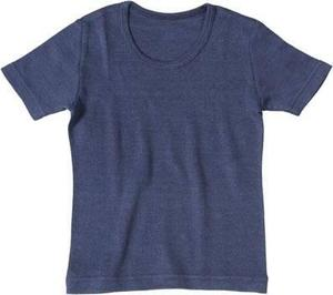 Kurzarm Unterhemd dark rose o. blau / Undershirt with short sleeves / Living Crafts - Living Crafts