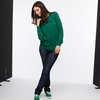 TT10 Woman Crew Neck Jacket aus Biobaumwolle in verdant green (dunkelgrn) - THOKKTHOKK