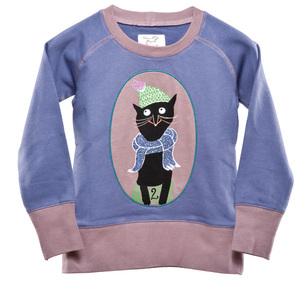 Sweatshirt 'Winterkatze' - Kissa