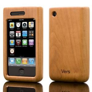 iPhone Hlle aus Holz (Bambus, Walnuss,Kirsch) - Vers