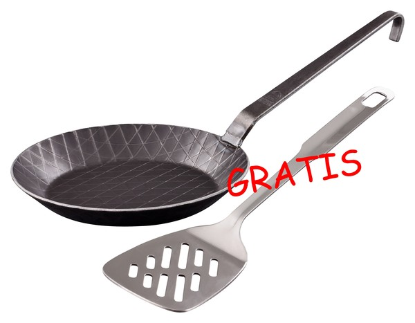 PROFI ('die Kleine') schmiedeeiserne Bratpfanne (/) 20 cm, unbeschichtet - Grwe