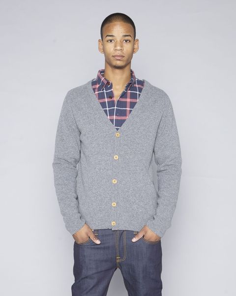 Plain Knit Cardigan - KnowledgeCotton Apparel