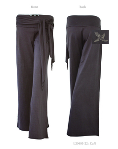 Ladies Bird Pants with Tie West (Small Bird) - Chakura by Ku Ambiance