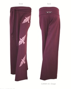 Ladies Bird Pants with Tie West (Big Birds) - Chakura by Ku Ambiance