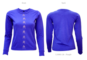Ladies Long Sleeve Tee with Ku Bell Logos - Chakura by Ku Ambiance