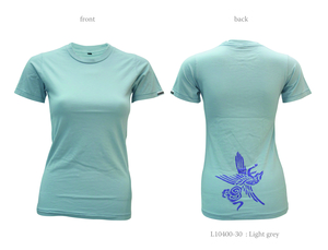 Ladies Short Sleeve Tee with Crane - Chakura by Ku Ambiance
