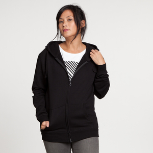 EarthPositive Zip-Hoodie Woman Black - EarthPositive