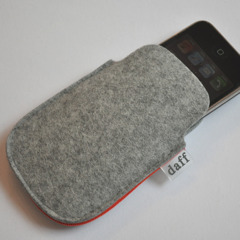 Filz Tasche fr iPhone und iPod grau - Daff