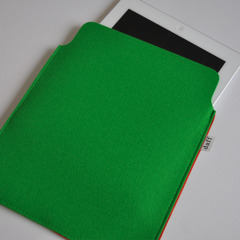  Filz iPad Hlle / PadBag grasgrn - Daff