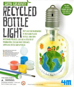 Recycled Bottle Light - green creativity