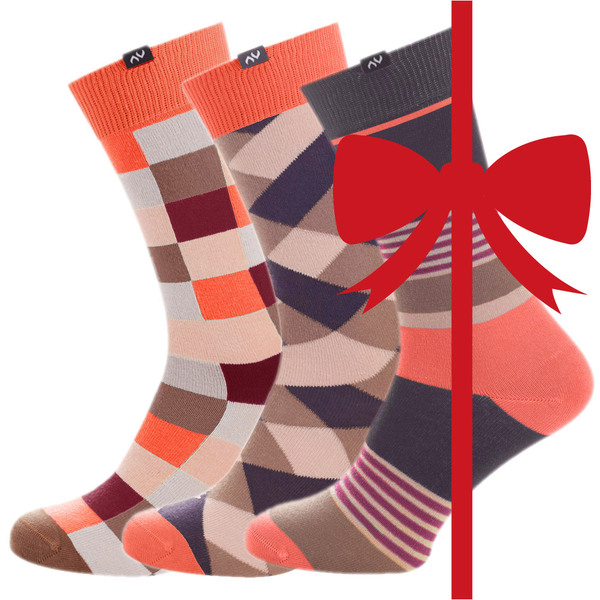 MINGA BERLIN Eco Fashion Socks Geschenkbox - Coral Berries - MINGA BERLIN