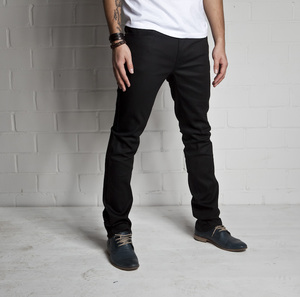 THINN FINN Jeans | dry black coated   - Nudie Jeans