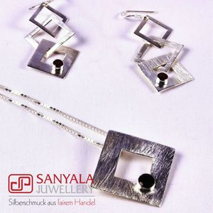 Silber-Schmuckset QUADRO Fairtrade - SANYALA