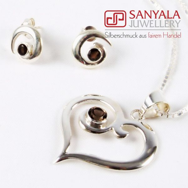 Silber-Schmuckset HEART Fairtrade - SANYALA