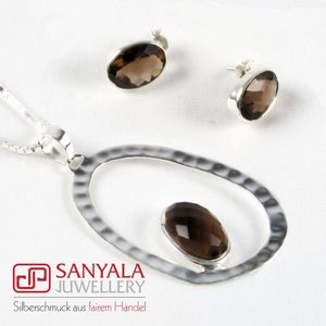 Silber-Schmuckset OVAL Fairtrade - SANYALA