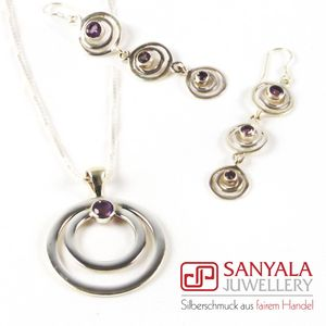 Silber-Schmuckset CIRCLE Fairtrade - SANYALA