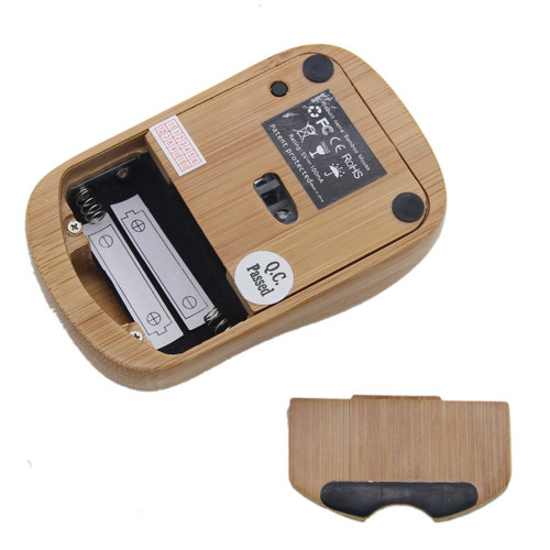 Wireless Maus aus Bambus - BambooTech