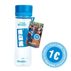 AVEO Trinkwasserflasche blau, 0,6L, Charity - aladdin