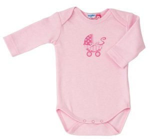 Langarm Body Kinderwagenprint rosa - Kthe Kruse