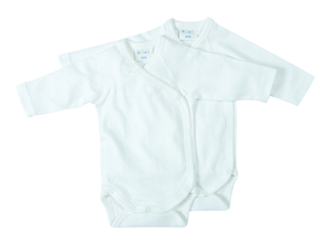 Wickelbody Langarm fr Neugeborene 2er Pack - biobaby