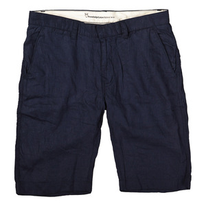 Leinen Short dunkelblau - Knowledge Cotton Apparel