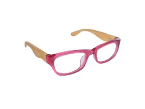 Nerd Brille - PINK - woodlike - Eco Unit T
