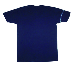 REAL INDIGO - Unisex Organic Short Sleeve V Neck Tee - Shoulder Line - Chakura by Ku Ambiance