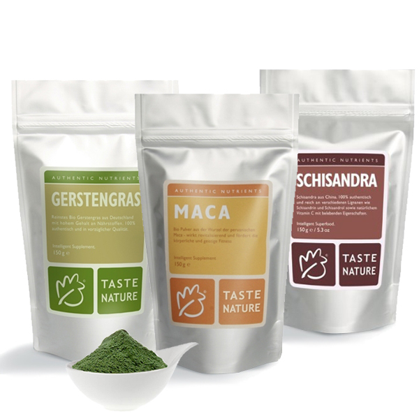 Taste Nature Power Pack Maca/Gerstengras/Schisandra - Taste Nature