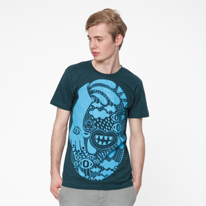 Dope T-Shirt boyblue/deep teal - THOKKTHOKK