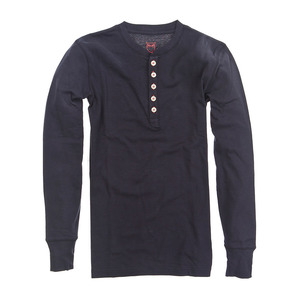 HENLEY RIB KNIT SHIRT - Knowledge Cotton Apparel