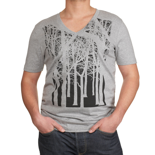 Herren V Neck Shirt Tree - Re-Bello