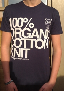 100% Organic Cotton T-Shirt dunkelblau - Knowledge Cotton Apparel