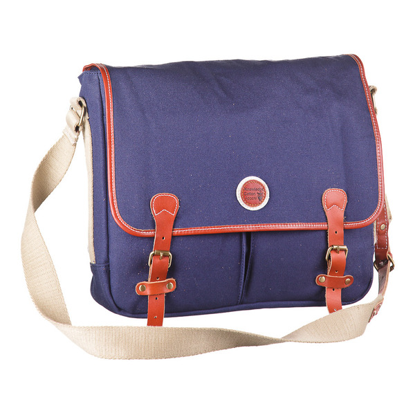 Messenger Bag - Blaue Tasche - Knowledge Cotton Apparel