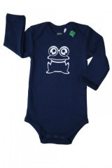 Langarm-Body Frosch  - Green Cotton