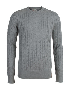 Cable Knit Round Neck - KnowledgeCotton Apparel