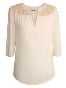 ROMANTIC LACE  Bluse  - woodlike