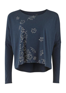 Oversize Top, denim melange - People Tree