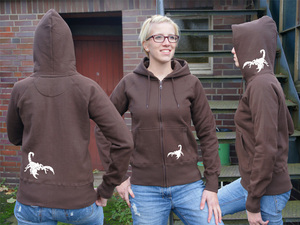 'Skorpion' Frauen ZIP-HOODY FAIR WEAR - shop handgedruckt