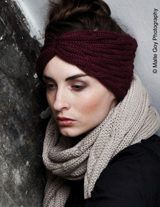 Stirnband TURBAN - Zebratod